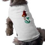 El Dia de Muertos Mermaid Camisa De Perro