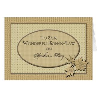 El día de padre - a nuestro yerno tarjeta de felicitación