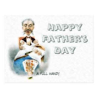 El día de padre completo de la mano CC0186 Postal