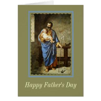 El DÍA de PADRE de Jesús de San José y del niño Tarjeta De Felicitación