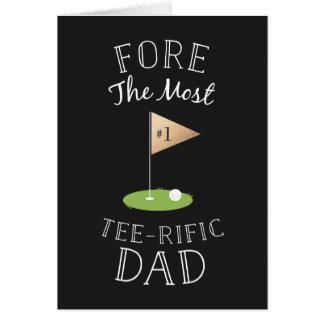 El día de padre de la Camiseta-rific Tarjeta De Felicitación