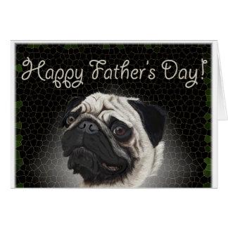 el día de padre del barro amasado tarjeta de felicitación