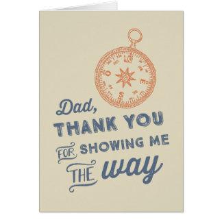 El día de padre del compás tarjeta de felicitación