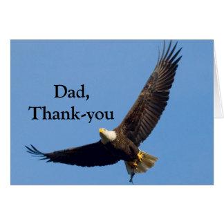 El día de padre del de agradecimiento tarjeta de felicitación