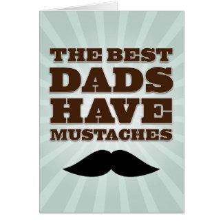 El día de padre del papá del bigote tarjeta de felicitación