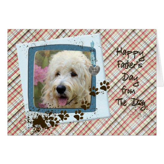El día de padre del perro tarjeta de felicitación