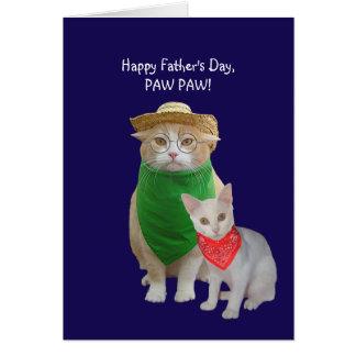 El día de padre divertido del gato tarjeta de felicitación