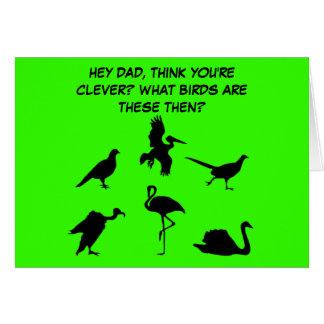El día de padre divertido, levemente grosero felicitación