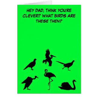 El día de padre divertido, levemente grosero tarjeta de felicitación