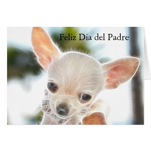 El día de padre en tarjeta española