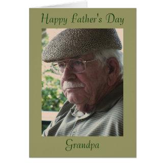El día de padre feliz, abuelo tarjeta