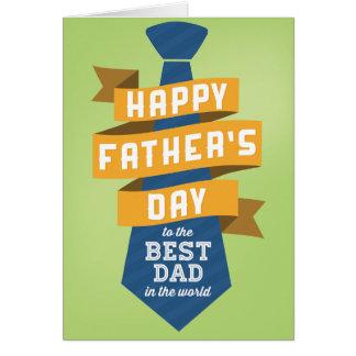 El día de padre feliz al mejor papá del mundo tarjeta de felicitación