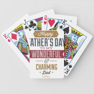 El día de padre feliz baraja de cartas bicycle