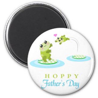 El día de padre feliz de lúpulo de la rana linda iman de nevera