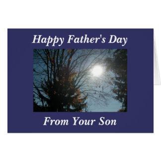 El día de padre feliz, de su hijo tarjetón