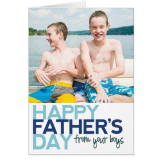 ¡El día de padre feliz de sus muchachos! Tarjeta