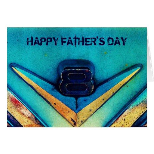 El día de padre feliz del motor de V8 para el mecá Felicitacion