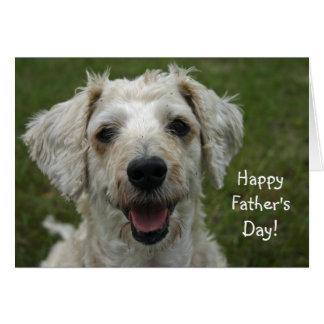 El día de padre feliz del perro tarjeta de felicitación