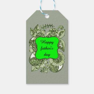 El día de padre feliz etiquetas para regalos