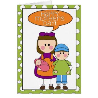 el día de padre feliz (muchacho/chica/niña) tarjeta de felicitación