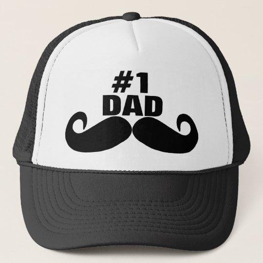 08a672df3f409 El día de padre feliz - numere a 1 papá - gorra