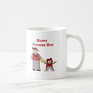 El día de padre feliz (papá y yo béisbol) taza
