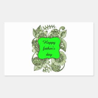 El día de padre feliz pegatina rectangular