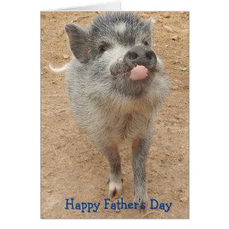 El día de padre feliz personalizado, mini tarjeta tarjeta de felicitación