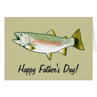 El día de padre feliz: Trucha arco iris Tarjeta De Felicitación