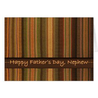 El día de padre para el sobrino, el tejer del tarjeta de felicitación