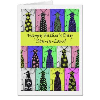 El día de padre para el yerno, el camisetas y los tarjeta de felicitación