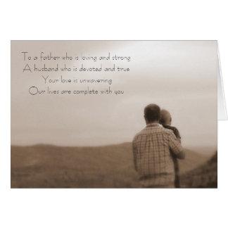 El día de padre tarjeta pequeña