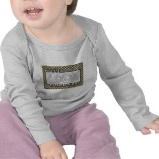 El día de padres cortado AÑADE SU insignia del Camisetas