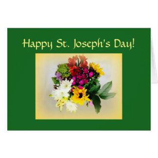 El día de San José feliz Tarjeta De Felicitación