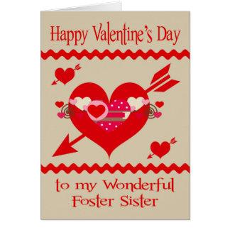 El día de San Valentín a la hermana adoptiva Tarjeta