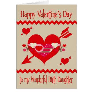 El día de San Valentín a la hija del nacimiento Felicitaciones