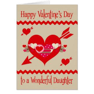 El día de San Valentín a la hija Felicitacion