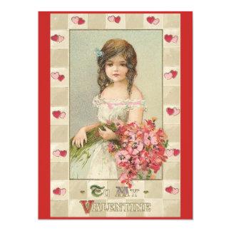 El día de San Valentín antiguo Invitación 16,5 X 22,2 Cm