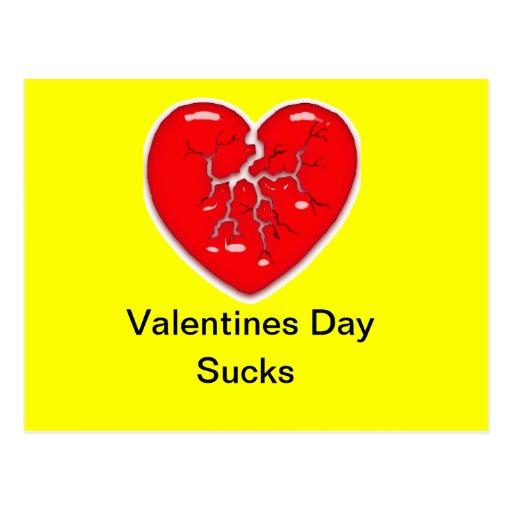 El día de San Valentín chupa la postal