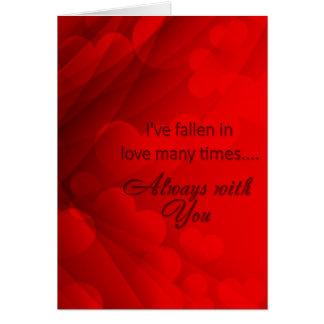 """El día de San Valentín - """"corazones abstractos """" Tarjeta De Felicitación"""