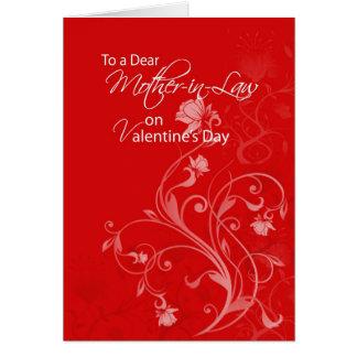 El día de San Valentín de 3552 suegras Tarjeta De Felicitación