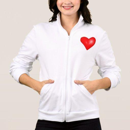 El día de San Valentín de la chaqueta de las señor