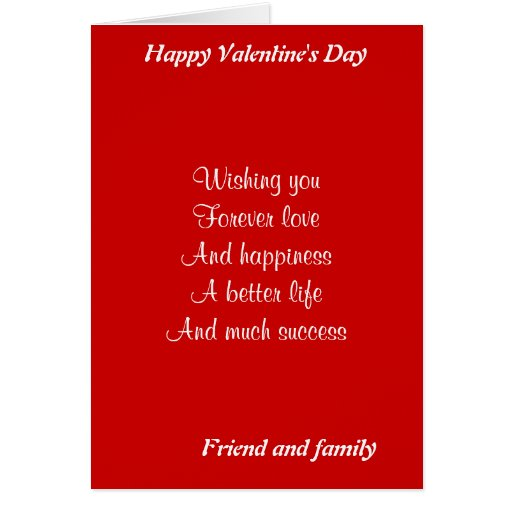 el día de San Valentín del amigo y de la familia Tarjeton