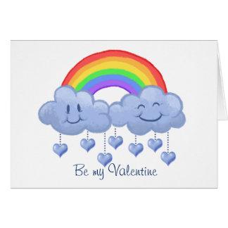 El día de San Valentín del amor de la nube Tarjeta De Felicitación
