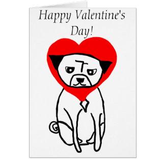 El día de San Valentín del barro amasado del amor Tarjeta De Felicitación
