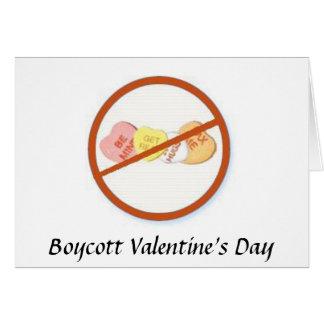 El día de San Valentín del boicoteo Tarjeta De Felicitación