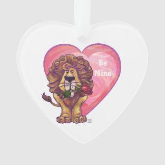 El día de San Valentín del león Adorno