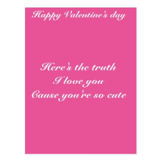 El día de San Valentín del nieto de la nieta Tarjetas Postales
