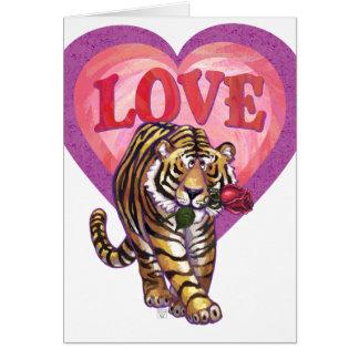 El día de San Valentín del tigre Tarjeta Pequeña