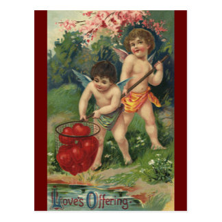 El día de San Valentín del Victorian del vintage, Postal